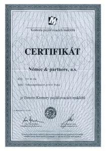 V říjnu 2000 jsme se stali členy Komory pojišťovacích makléřů